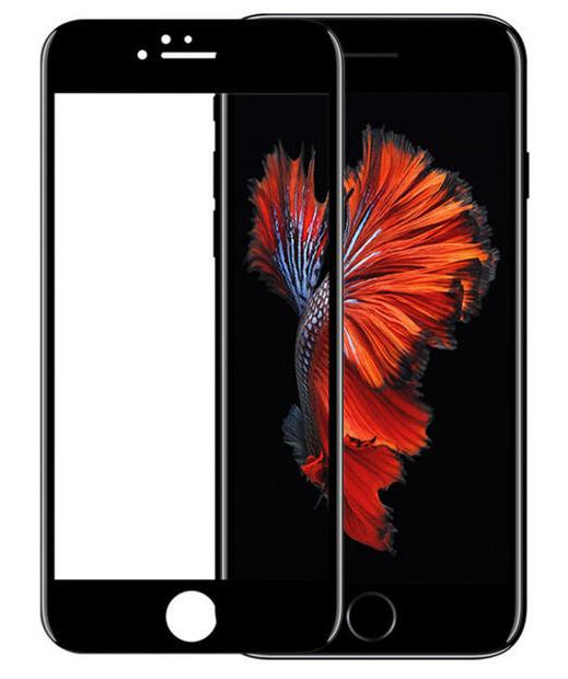 Защитное стекло iPhone 6 PLUS 5D черный ТЕХПАК