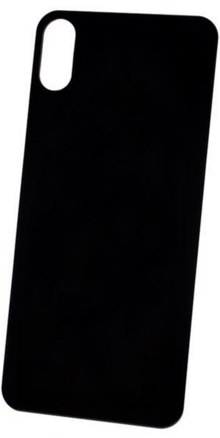 Защитное стекло для задней панели iPhone XS MAX черный ТЕХПАК фото