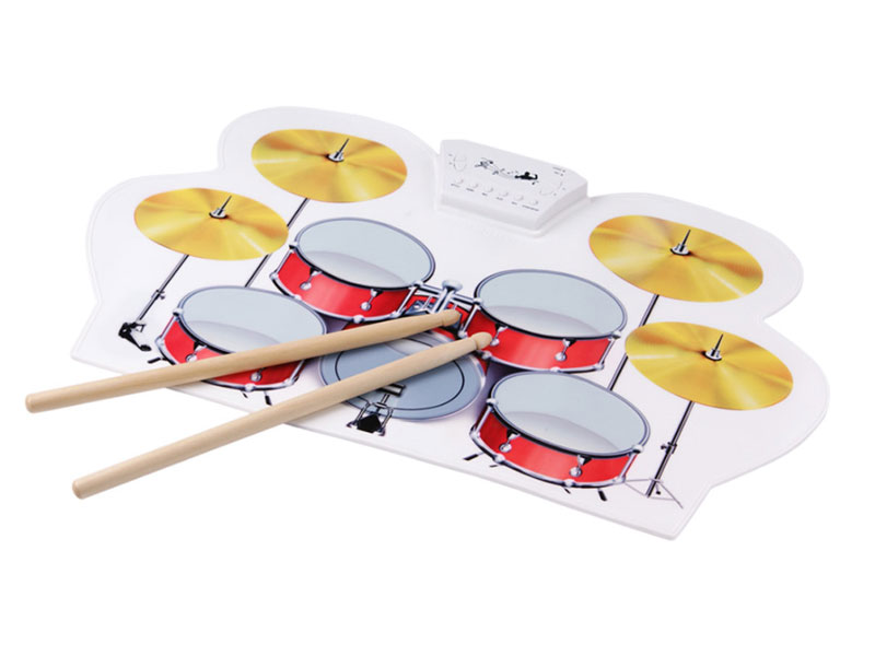 USB midi ROLL UP DRUM KIT 6pcs set 39x 27 5x2 5cm silica gel foldable portable roller up usb electronic drum kit 2 drum sticks 2 foot pedals