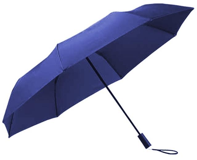 Xiaomi Tri Folded Two or Three Sunny Umbrella Blue фото