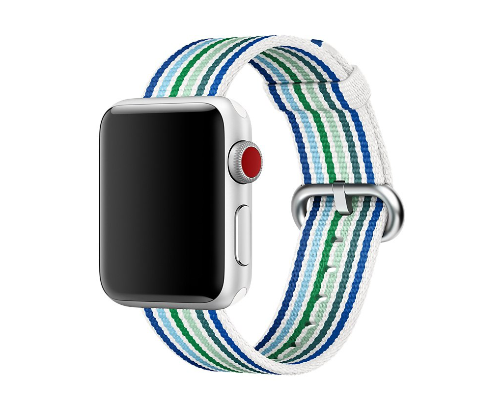Ремешок для Apple watch 42mm New Canvas Band синий/голубой фото