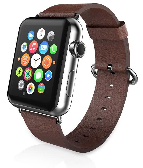 Ремешок для Apple watch 38mm PU Leather коричневый фото