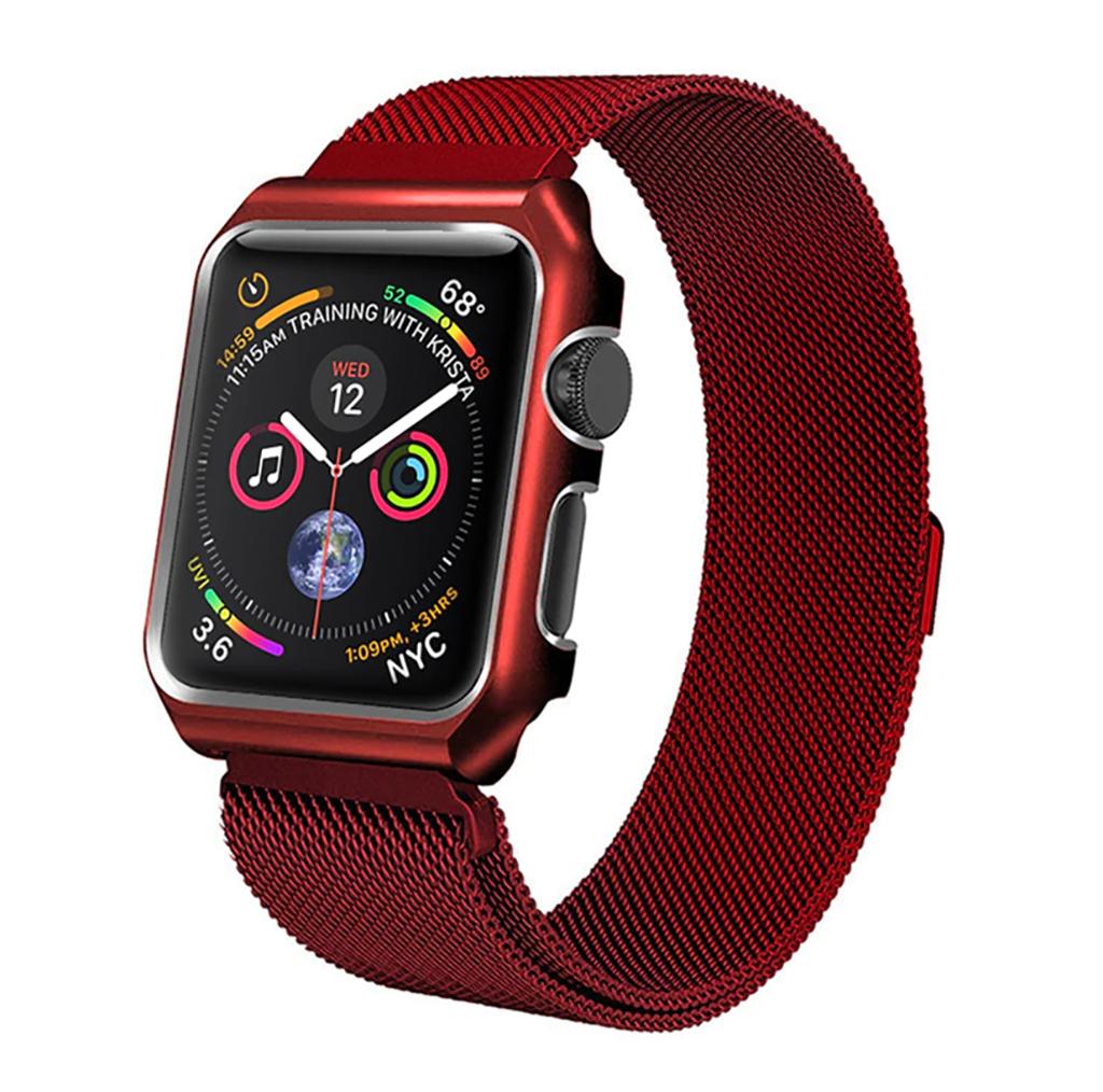 Ремешок для Apple watch 42mm One Body Milanese Loop Металл красный фото