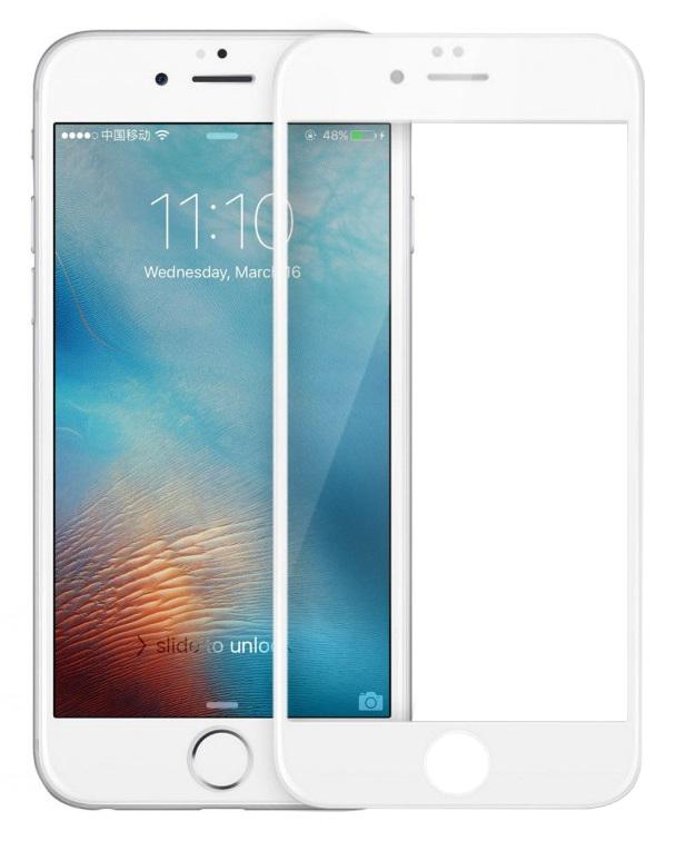 Защитное стекло iPhone 6 PLUS 10D белый ТЕХПАК