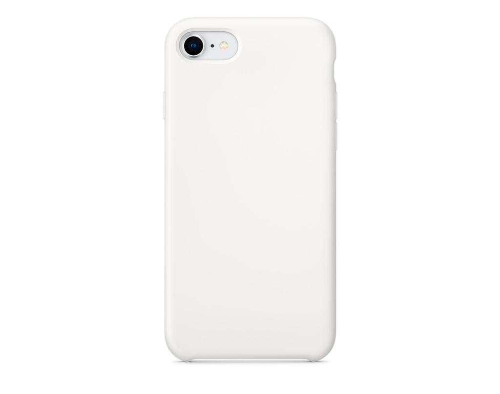 Чехол для iPhone 8 Silicon Case белый фото