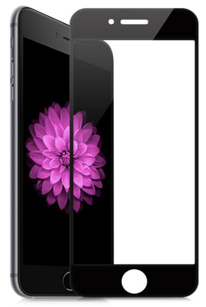 Защитное стекло iPhone 6 5D плоский черный DREAM