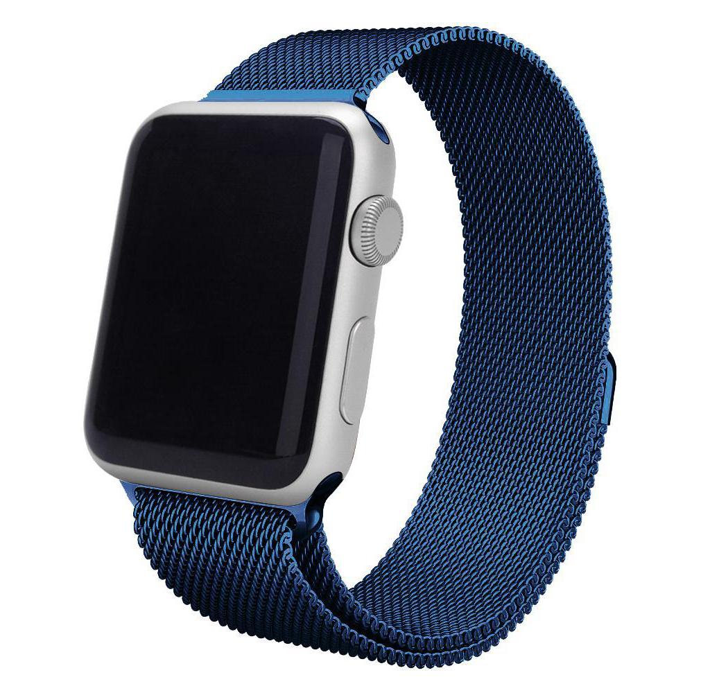 Ремешок для Apple watch 38mm Milanese Loop New синий фото