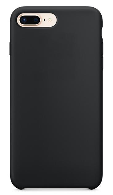 Чехол для iPhone 8 plus Silicon Case чёрный фото