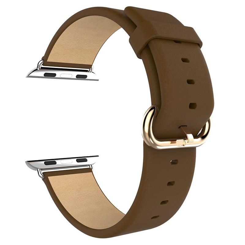 Ремешок для Apple watch 38mm Кожа коричневый фото