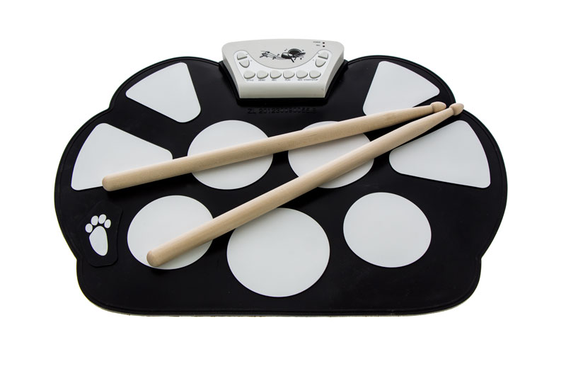 ROLL UP DRUM KIT 6pcs set 39x 27 5x2 5cm silica gel foldable portable roller up usb electronic drum kit 2 drum sticks 2 foot pedals