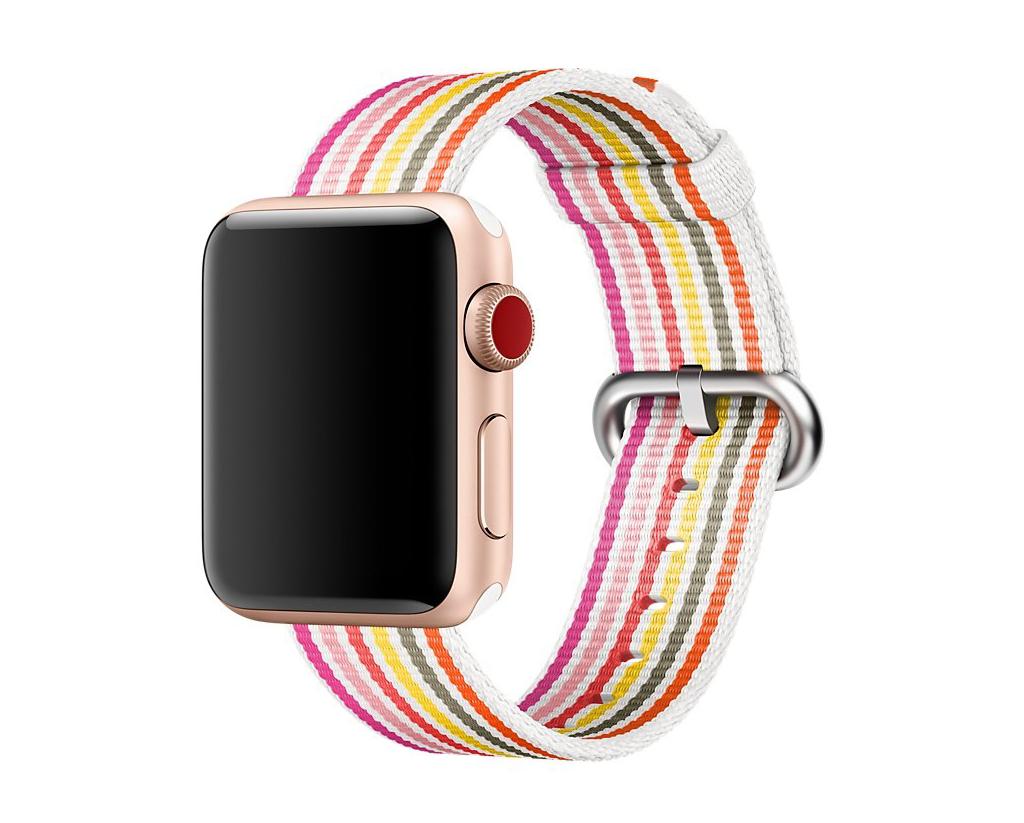 Ремешок для Apple watch 42mm New Canvas Band красный/розовый/белый фото