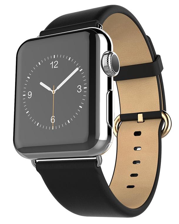 Ремешок для Apple watch 38mm Кожа чёрный фото
