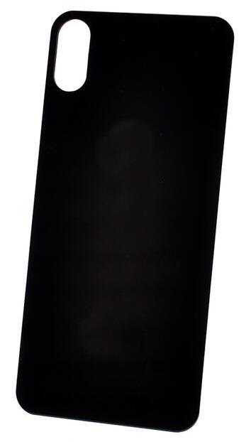 Защитное стекло для задней панели iPhone XS MAX черный ТЕХПАК