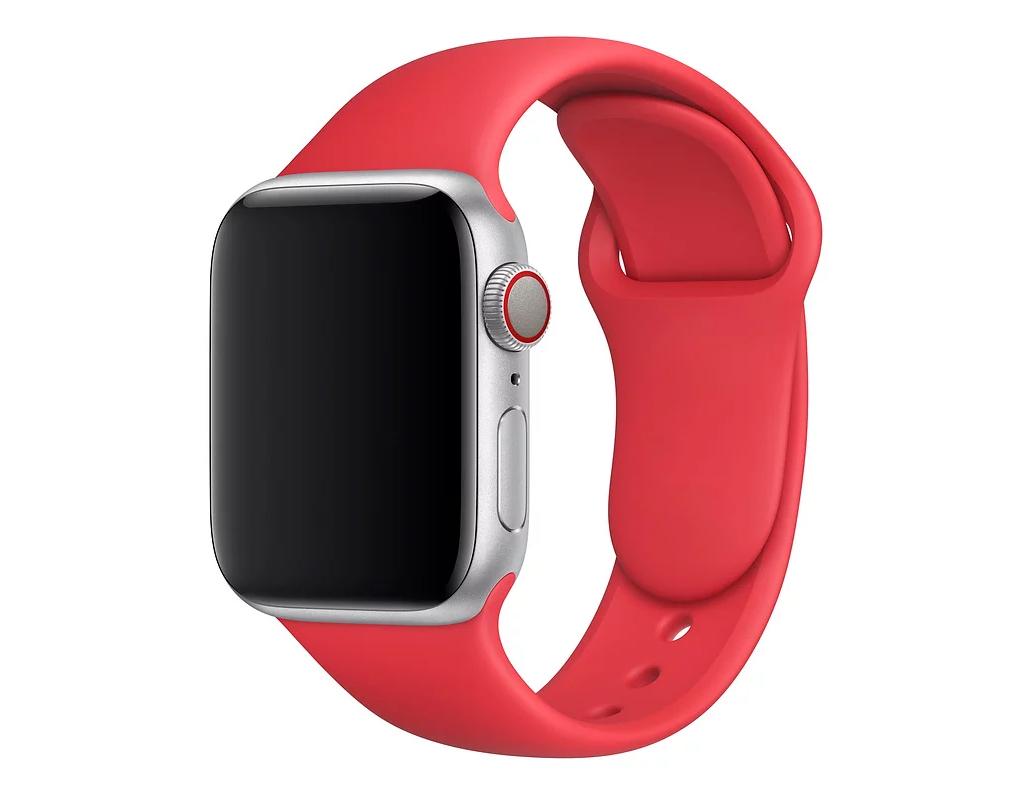 Ремешок для Apple watch 42mm Sport Band красный фото