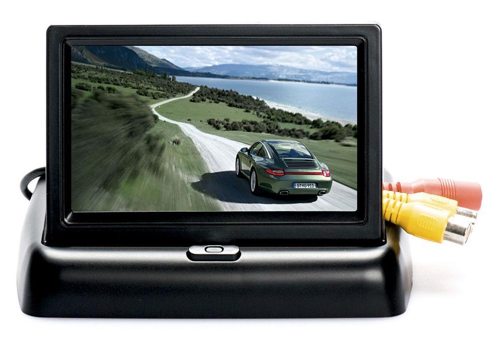Автомобильный монитор 4.3 раскладной дальнобойщики 3 камеру заднего вида