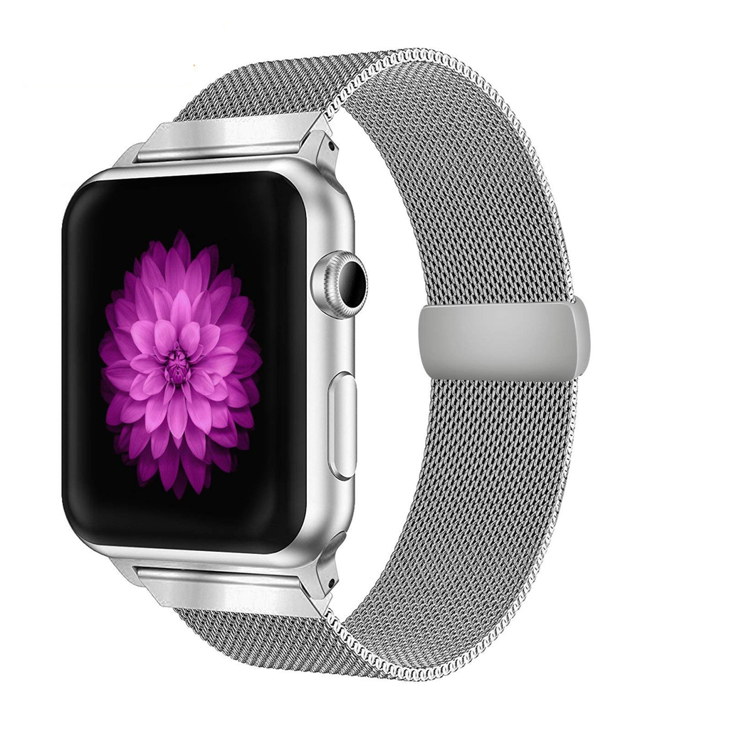 Ремешок для Apple watch 42mm Milanese Loop серебро фото