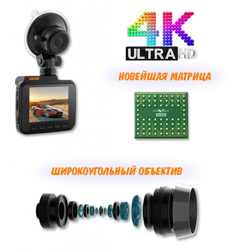КАРКАМ М5 - автомобильный 4K UltraHD видеорегистратор нового поколения