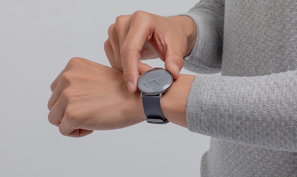 Гибридные смарт-часы Xiaomi Mijia Quartz Watch, Gray4.jpg