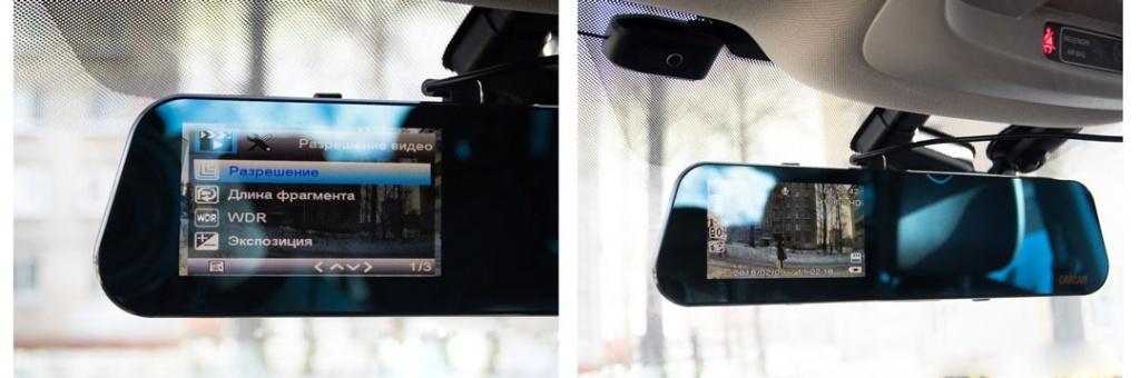 Автомобильный видеорегистратор-зеркало CARCAM Z7 - G-сенсор