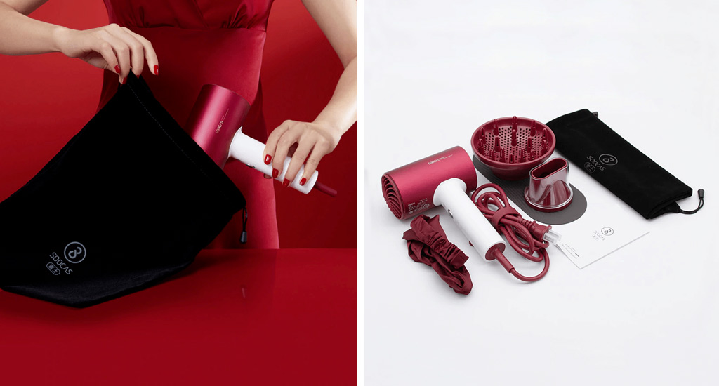 Xiaomi Soocare Anions Hair Dryer H5-T - Чехол в комплекте