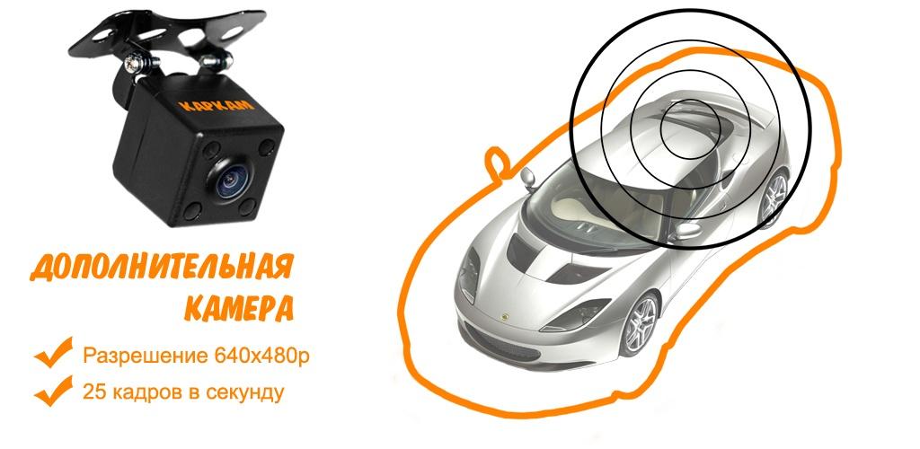 дополнительная камера - Автомобильный видеорегистратор КАРКАМ А360