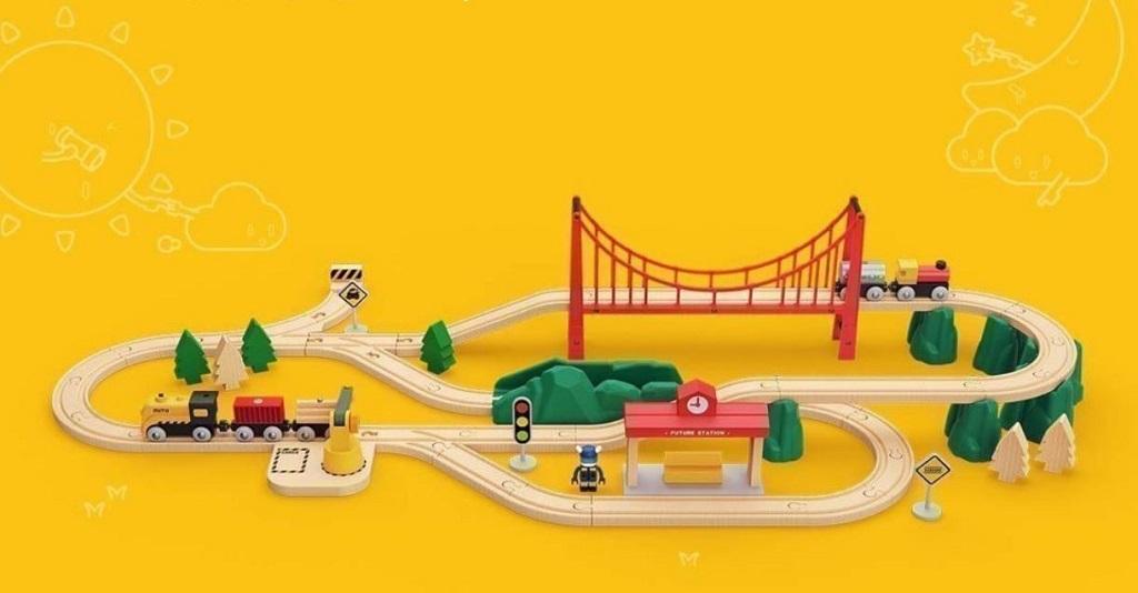 Xiaomi Mitu Track Building Block Electric Train Set Управление поездом интуитивно понятно ребенку
