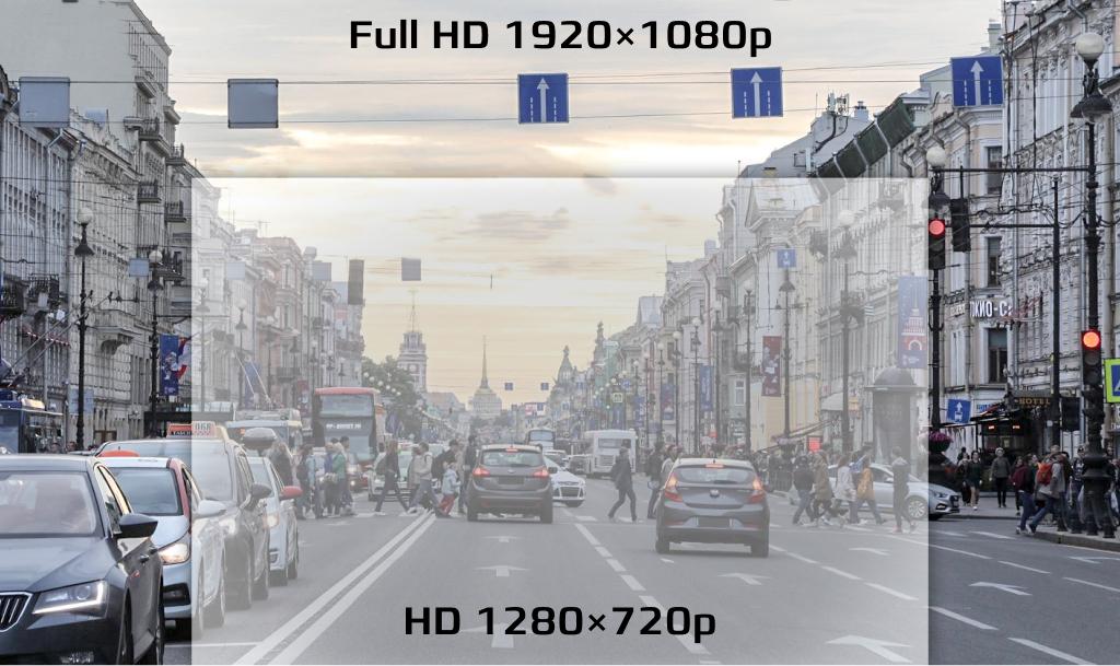 CARCAM D1 ведет съемку в разрешении Full HD 1920x1080p
