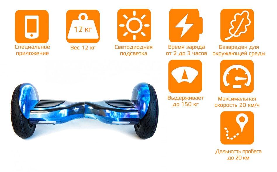 Гироскутер CARCAM SmartBalance 10.5 Blue Planet