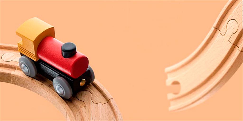 Xiaomi Mitu Track Building Block Electric Train Set Элементы игрушки выполнены из натурального эвкалипта и пластика ABS