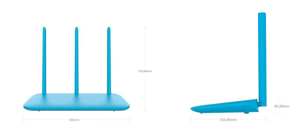 Xiaomi Mi WiFi Router 4Q оснащен 3 мощными антеннами