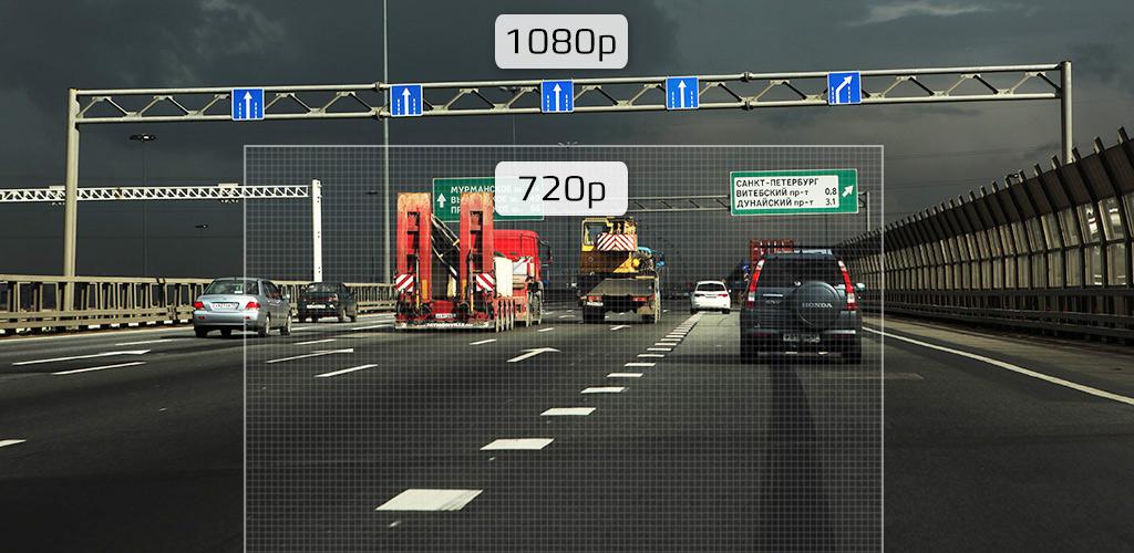 Автомобильный видеорегистратор-зеркало CARCAM Z5 - Запись в формате 1920x1080p