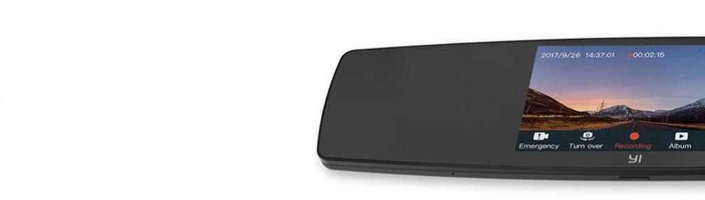 """YI Mirror Dash Camera – сенсорный дисплей 4.3"""""""