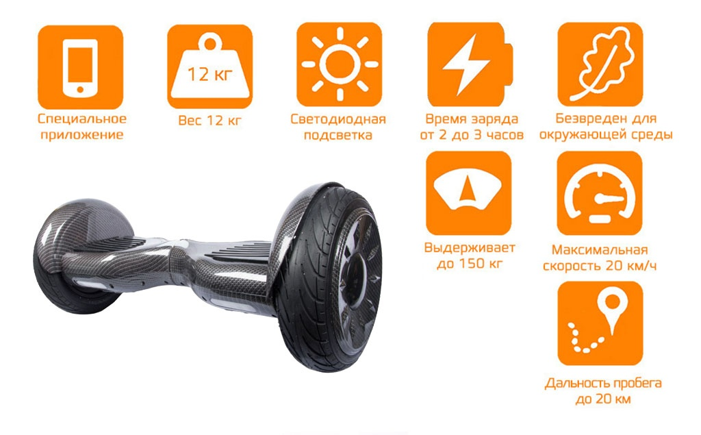 Гироскутер CARCAM SmartBalance 10.5 Carbon