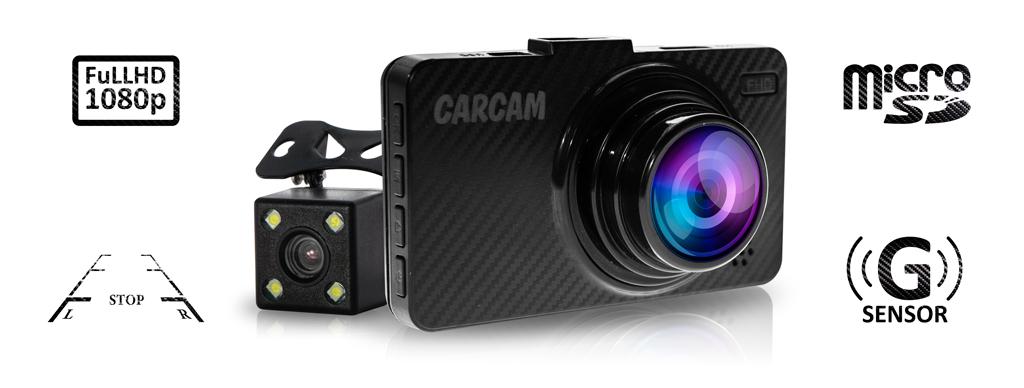CARCAM D5 автомобильный Full HD видеорегистратор с дополнительной HD-камерой