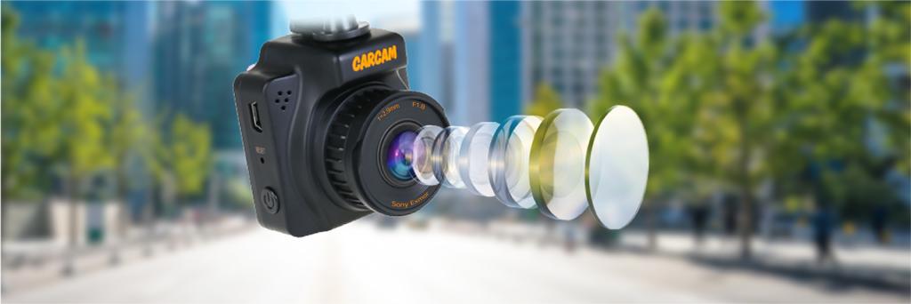 CARCAM R2 – стеклянный 6-линзовый объектив обладает углом обзора в 145°
