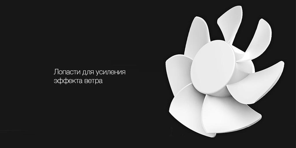 Вентилятор выполнен в эргономичном дизайне. Благодаря этому, его можно удобно расположить на столе или повесить на стену при помощи кожаного ремешка. Устройство не занимает много места и впишется в любой интерьер