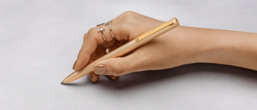 Xiaomi MiJia Mi Aluminum Rollerball Pen, Gold.jpg