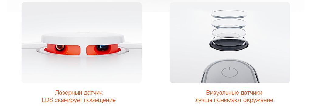 Робот-пылесос Xiaomi Mijia Sweeping Robot Vacuum Cleaner 1S - Лазерные датчики