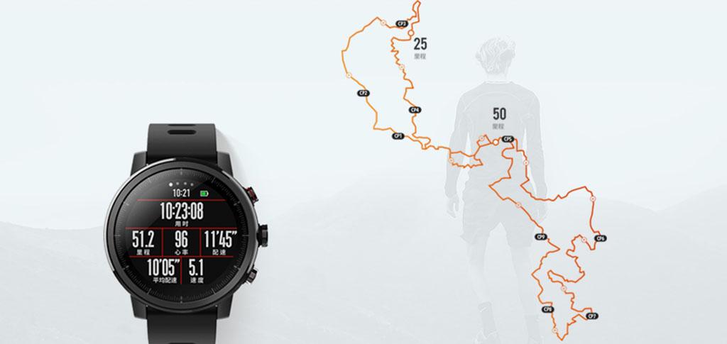 Часы Amazfit Stratos – обновленные водонепроницаемые смарт-часы с функциями фитнес-трекера.