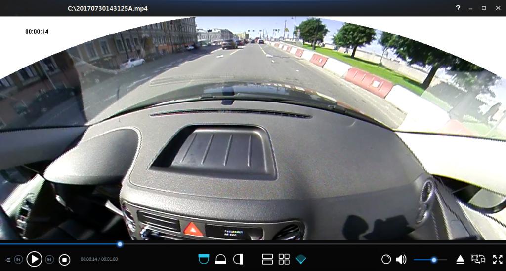 Автомобильный видеорегистратор КАРКАМ А360 - режим записи круговой обзор