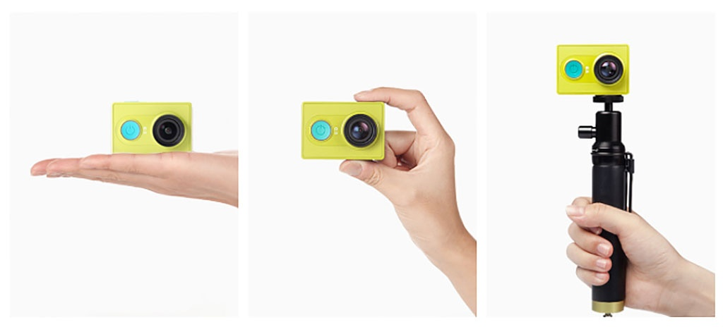 Экшн-камера YI Action Camera Basic Edition green - 4 режима съемки