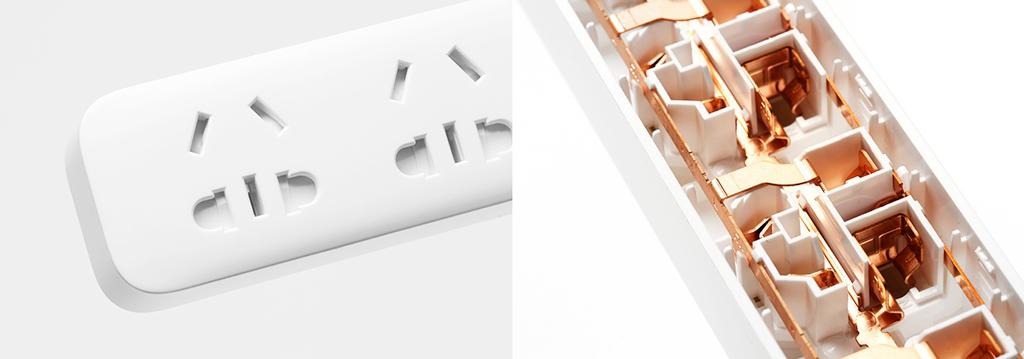 Xiaomi Mi Power Strip 5 Sockets White надежно защищено от перегрева и короткого замыкания