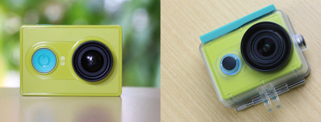 Экшн-камера YI Action Camera Basic Edition green - Micro SD до 128 ГБ