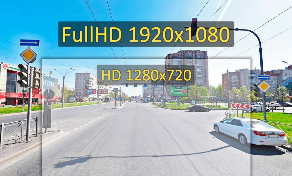 CARCAM D5 ведет съемку в разрешении Full HD 1920x1080p