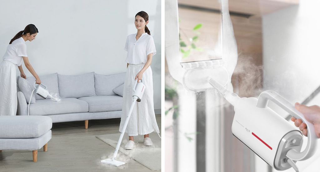 Xiaomi Deerma Steam Cleaner DEM-ZQ600 - Очищение водой