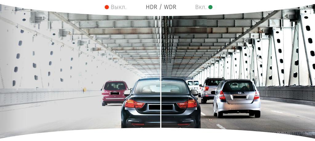 CARCAM HYBRID 2 Signature - Функции HDR и WDR