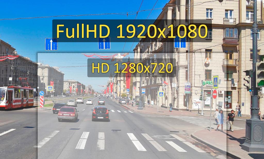 CARCAM F3 -Запись видеороликов ведется в разрешении FullHD 1920х1080p