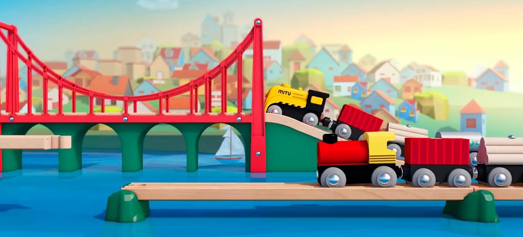 Xiaomi Mitu Track Building Block Electric Train Set увлекательная игра для вашего ребенка