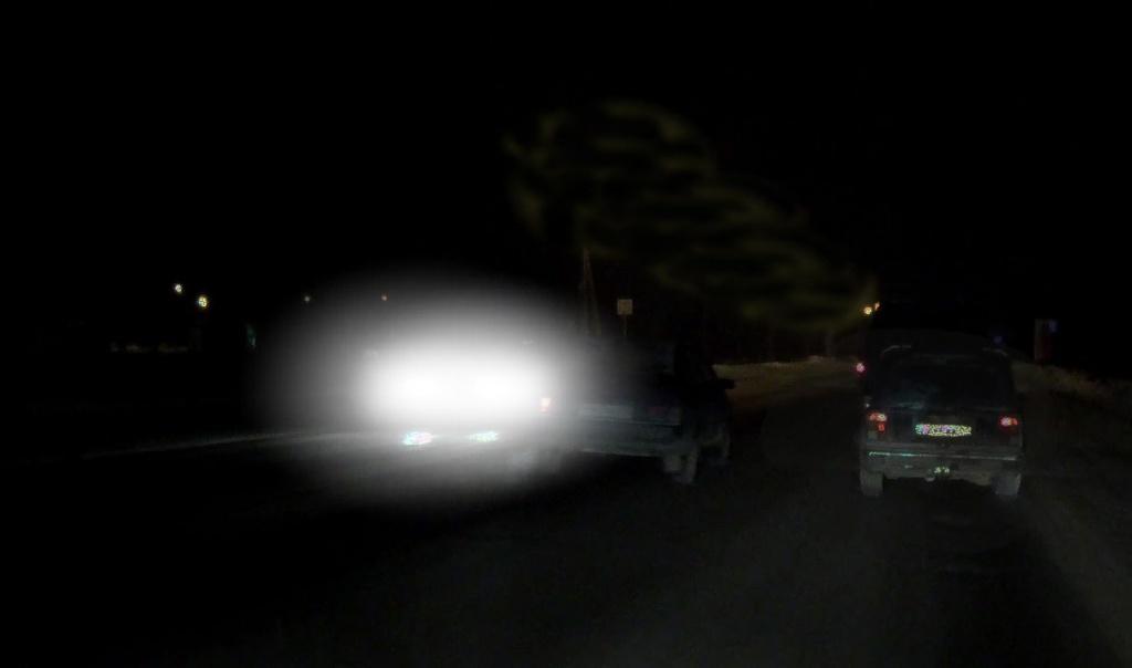 Ночная съемка обычного видеорегистратора