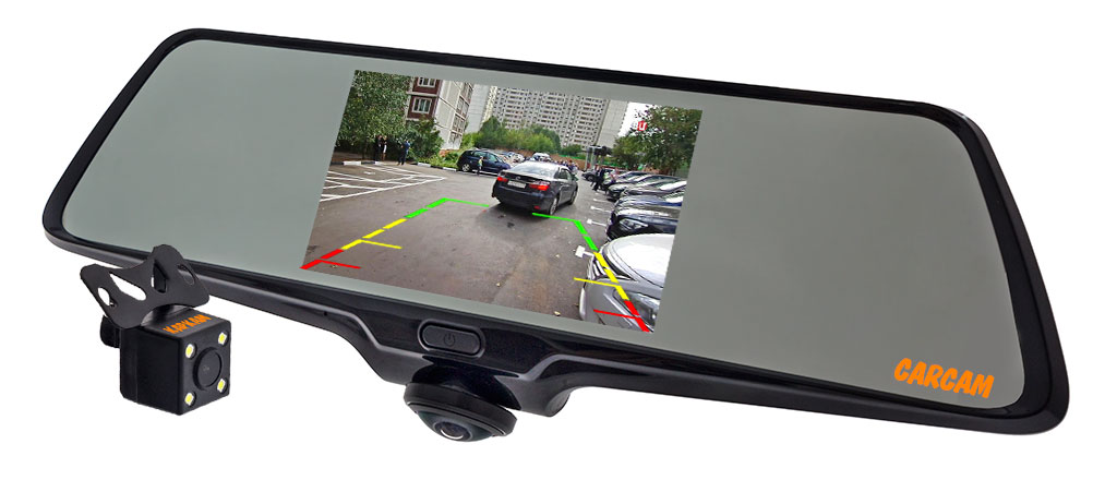 Автомобильный видеорегистратор-зеркало CARCAM Z-360 - Режим парковки